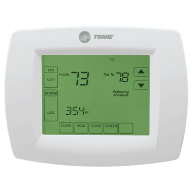 Trane XL802 thermostat.